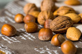 Vintage styled Mixed nuts — 图库照片
