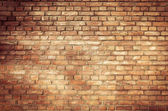 Old red brick wall textures and backgrounds — Stock Photo