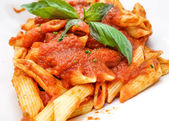 Italian meat sauce pasta on the table — Stock Photo