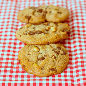 Chocolate chips cookies — Stock Photo