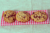 Chocolate chips cookies — Photo