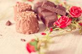 Closeup chocolate  candies — Stock Photo