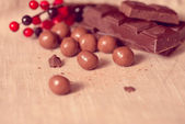 Closeup chocolate  candies — Stockfoto