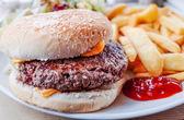 Sýr burger — Stock fotografie
