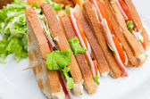 Sandwich with chicken, — 图库照片