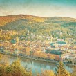 Vintage view to old town of Heidelberg — Stock Photo
