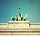 Vintage Brandenburg Gate — Stock Photo