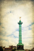 Vintage Place de la Bastille in Paris — Stock Photo