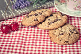 Chocolate chips cookies — Foto Stock