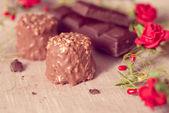 Schokolade braun Serviette — Stockfoto