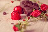 Chocolate on brown napkin  — Fotografia Stock