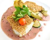 Fine dining cuisine — Stock Photo
