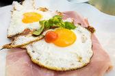 Prepared egg under the sun — Stock Photo
