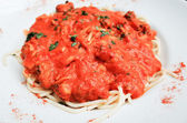 Pasta-Italian meat sauce pasta — Stock Photo
