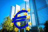 Euro Sign. European Central Bank (ECB)  — Stock Photo