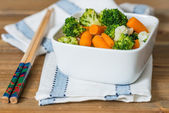 Bowls of variety vegetables  — Stock Photo