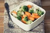 Çeşitli sebze kaseler — Stok fotoğraf