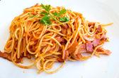 Tasty pasta-Italian meat sauce pasta — Stock Photo