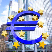Euro Sign in Frankfurt, Germany.  — Stock Photo