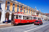 Lisbon,Portugal-May 11: Typical,Tramway on May 11, 2014 — Stock Photo
