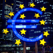 Frankfurt, Germany-February 12 : Euro Sign — Stock Photo