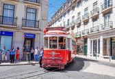 Beautiful Tramway in  Lisbon, Portugal, Europe — Stock Photo