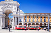 Beautiful Tramway in  Lisbon, Portugal, Europe — Foto de Stock