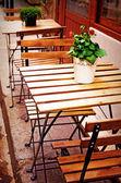 Terraza de café antigua — Foto de Stock