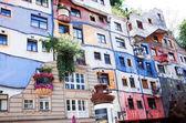 Hundertwasser house in Vienna — Stock Photo