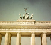 Retro Brandenburg Gate  — Stock Photo