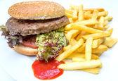 Cheese burger - American cheese burge — Stock Photo