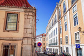 Traditional old buildings in Lisbon — 图库照片
