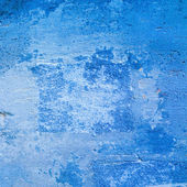 Blue large grunge wall texture — Foto Stock