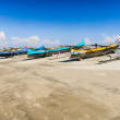 Canoes on the beach — Stock Photo #21844343