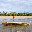 Malagasy fisherman — Stock Photo