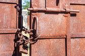 金属门关闭 — 图库照片