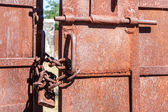 Metall grind stängd — Stockfoto