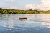 Fishermen going fishing — Stock Photo