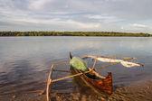 Fishing canoe — Stock Photo