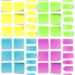 Stock Vector: Post-it Note Set