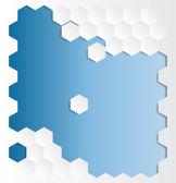 Pozadí abstraktní šestiúhelník — Stock vektor
