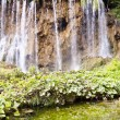 Big and beauty waterfall - Plitvice lakes - Foto Stock