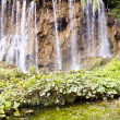 Big and beauty waterfall - Plitvice lakes - Stock Photo