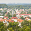 Olsztyn town view from castle. Poland — Stock Photo