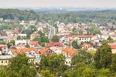 Olsztyn town view from castle. Poland — Stock Photo