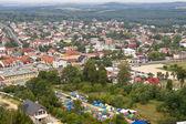 Olsztyn town - aerial view. — Stock Photo