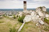 奥尔什丁镇和旧城堡-波兰. — 图库照片