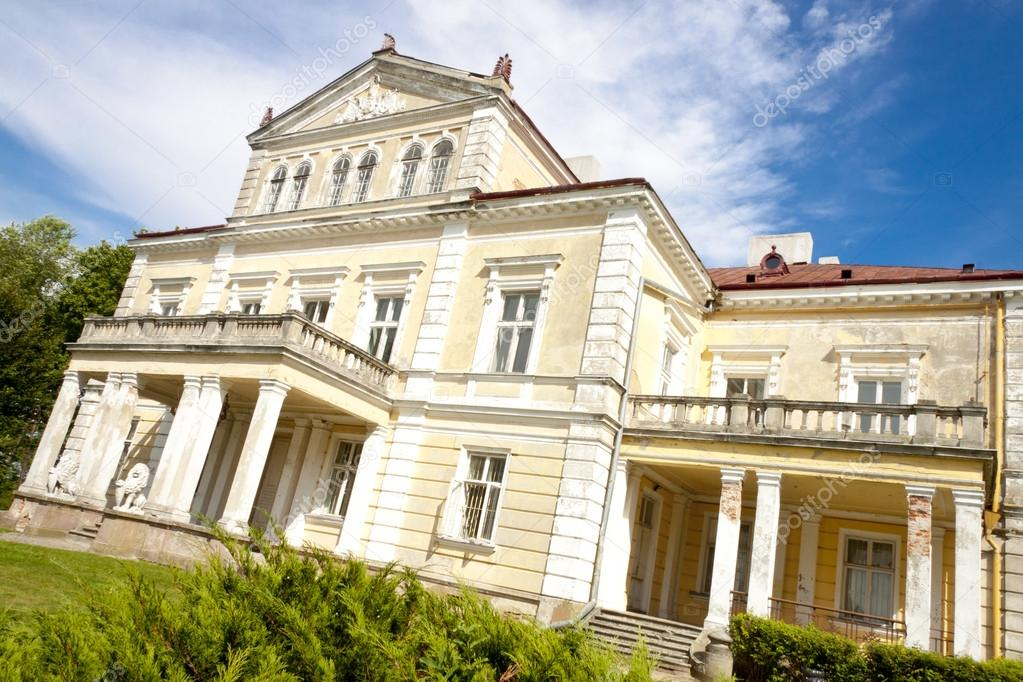 Raczynski Palace in Zloty Potok - Poland, Silesia.  Stock Photo #13121757