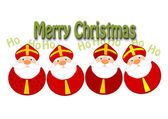 Funny christmas illustration — Vettoriale Stock