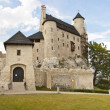 Front of Bobolice castle - Poland, Silesia. — Stock Photo